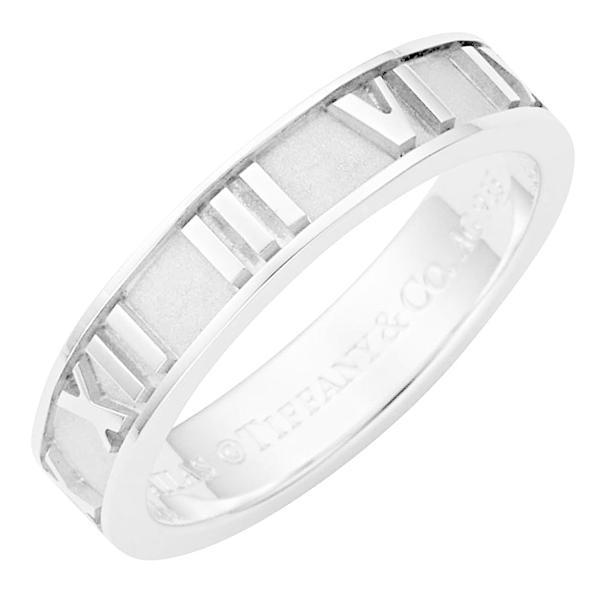 TIFFANY&CO ティファニー 指輪 リング アトラス ナローバンドリング レディース 人気 シルバー アクセサリー ホワイトデー