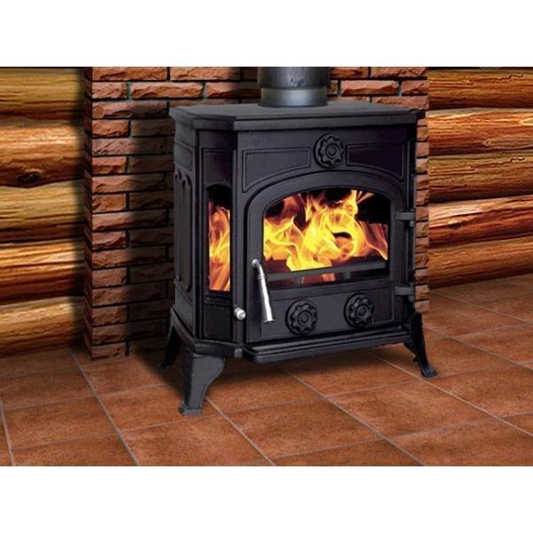 激安!数量限定商品!■最安値!高評価!北欧仕様!2次燃焼 お住まいを暖める頑丈な鋳物構造、素早い着火の温暖器具 薪ストーブ 90kg ■