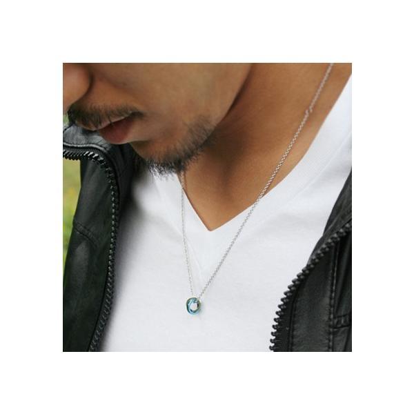 送料無料 メッセージダイヤモンド2連ステンレスペアネックレス/ブルー&ブラック4SUP003BL&4SUP003GU/white clover/ホワイトクローバー|sales|03