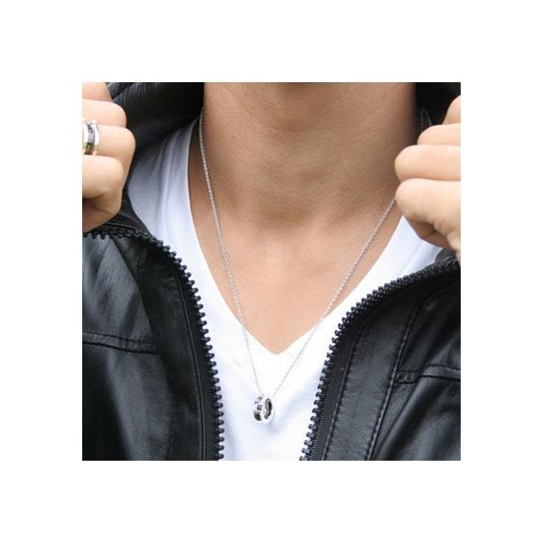 送料無料 ALLステンレスフレームリングペアネックレス/ゴールド&ブラック4SUP014GO&4SUP014GU/white clover/ホワイトクローバー|sales|02
