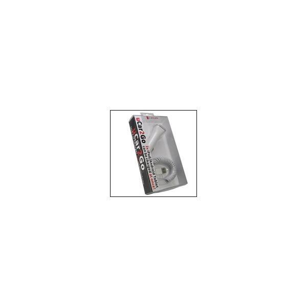 Salom uCar2Go apple 30pin we(white)ホワイト大容量4A 2ポート アップル30pin製品用カー充電器 カーチャージャー★充電中LED点灯 4A|salomjapan|04