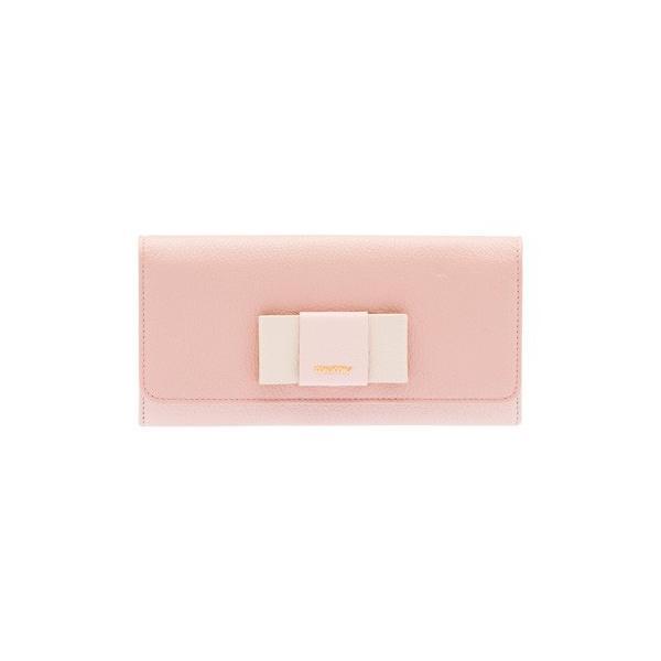 ミュウミュウ  リボン付き 二つ折 長財布 5MH109 2EW7 F0JW1 ピンク salon-de-miel