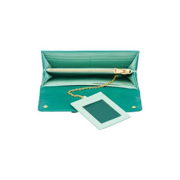 ミュウミュウ リボン付き  二つ折 長財布 5MH109 2EW7 F0LZ6 グリーン|salon-de-miel|03