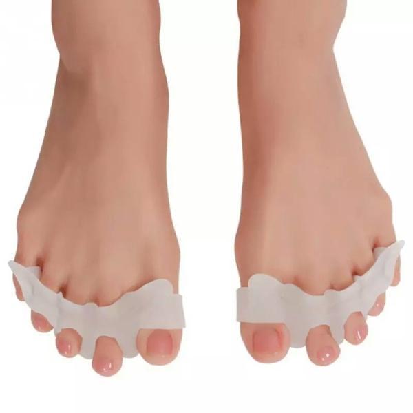 足指矯正 外反母趾矯正 足指サポーター シリコンサポーター 両足分1セット