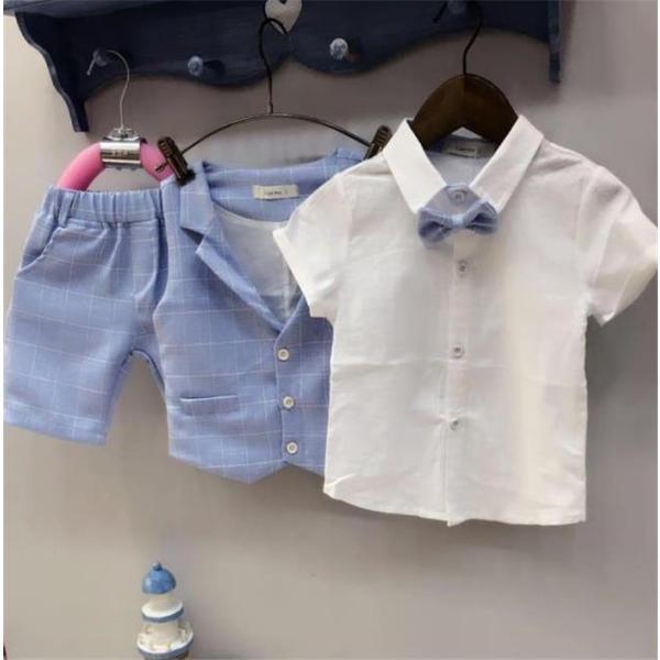 99d2e33ef0c6e ... 子供服 ベスト 男の子 ポロシャツ 3点セット 発表会 フォーマル 半袖 半ズボン 演出服 ...
