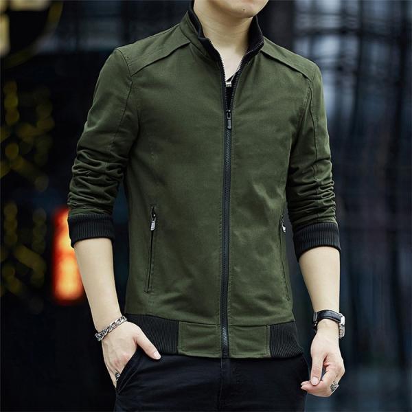 メンズジャケット 2019新作 メンズ アウター メンズファション 格好いい ジップアップ 春服 スタンドカラージャケット アウター 4色 M〜4XL|sami