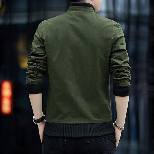 メンズジャケット 2019新作 メンズ アウター メンズファション 格好いい ジップアップ 春服 スタンドカラージャケット アウター 4色 M〜4XL|sami|02