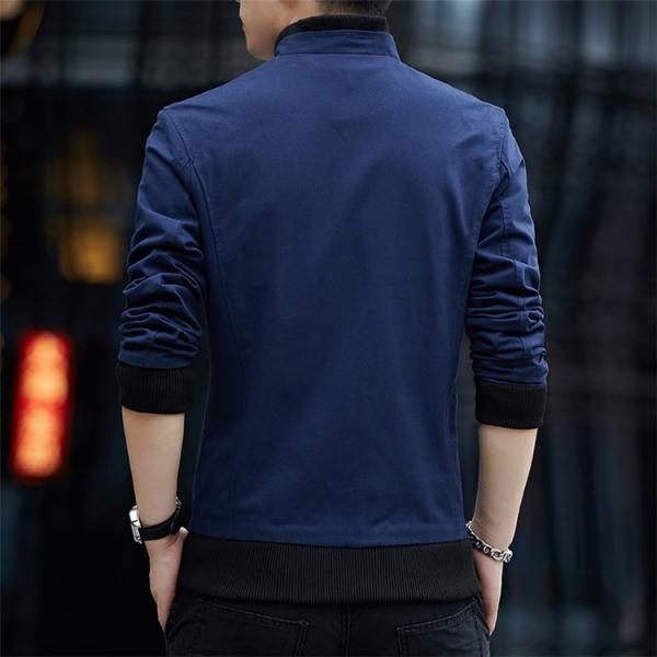メンズジャケット 2019新作 メンズ アウター メンズファション 格好いい ジップアップ 春服 スタンドカラージャケット アウター 4色 M〜4XL|sami|04