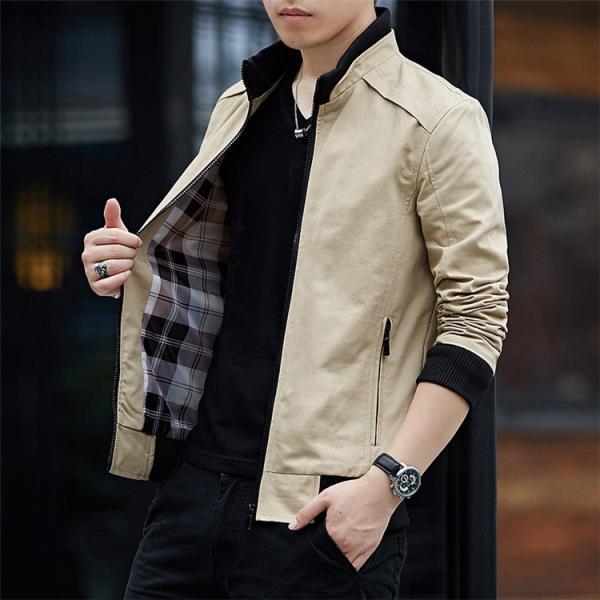 メンズジャケット 2019新作 メンズ アウター メンズファション 格好いい ジップアップ 春服 スタンドカラージャケット アウター 4色 M〜4XL|sami|05