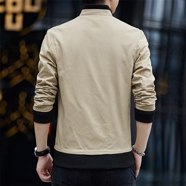 メンズジャケット 2019新作 メンズ アウター メンズファション 格好いい ジップアップ 春服 スタンドカラージャケット アウター 4色 M〜4XL|sami|06