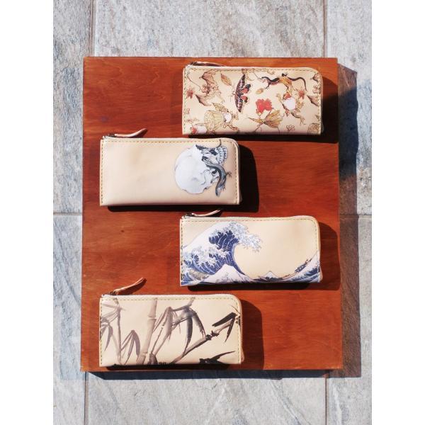 Lファスナー ロングウォレット サドルべーシック 「Japonism」|samuraicraft|04