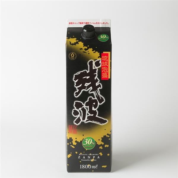 比嘉酒造 残波ブラック・パック 泡盛30度(黒)|san-a