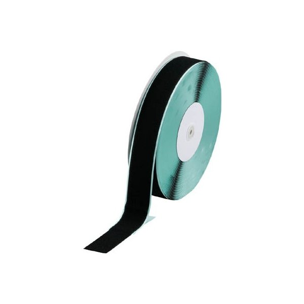 TRUSCO マジックテープ 糊付A側 幅50mmX長さ25m 黒