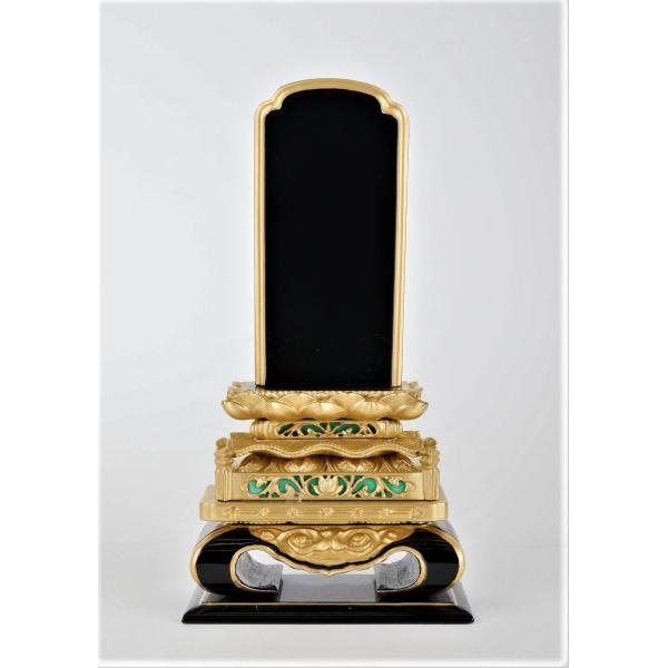 位牌 粉蒔高欄5.0 高さ26.5cm  本漆塗位牌 本金木製位牌 国産位牌 伝統技法位牌