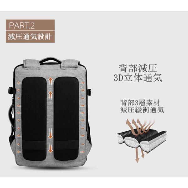 CAI ビジネスリュック リュック リュックサック メンズ バックパック 大容量 通勤 出張 通学 旅行 アウトドア おしゃれ ビジネスバッグ リュック HK-09099 sancai 16