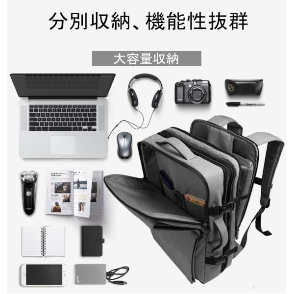 CAI ビジネスリュック リュック リュックサック メンズ バックパック 大容量 通勤 出張 通学 旅行 アウトドア おしゃれ ビジネスバッグ リュック HK-09099 sancai 10