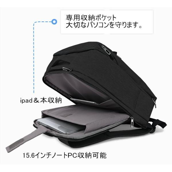 リュック メンズ cai リュックサック ビジネスリュック ビジネス バッグ 大容量 通学 通勤 旅行 出張 自転車通勤 リュック K-9101|sancai|09