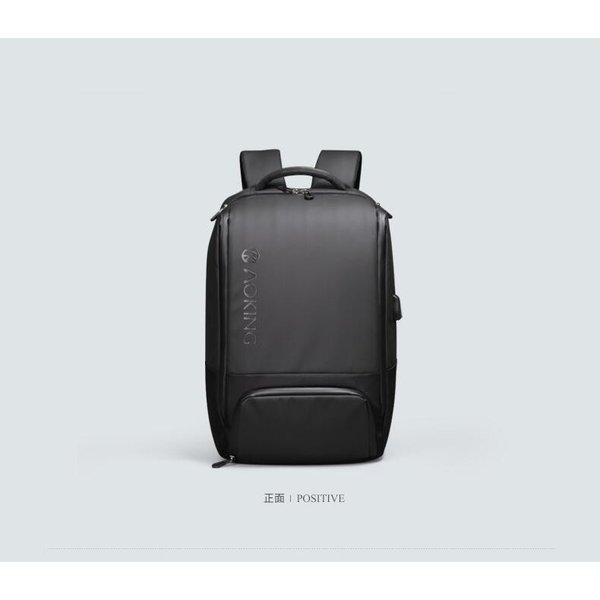ビジネスリュック メンズ リュックサック ビジネスバッグ 撥水 バックパック 通学 通勤 出張 旅行 デイパック キャリーサポーター USB充電 AOKING SN77880|sancai|03