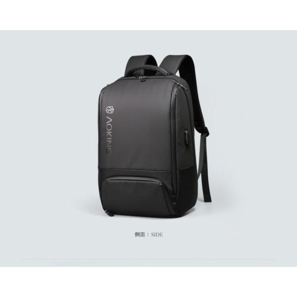 ビジネスリュック メンズ リュックサック ビジネスバッグ 撥水 バックパック 通学 通勤 出張 旅行 デイパック キャリーサポーター USB充電 AOKING SN77880|sancai|04