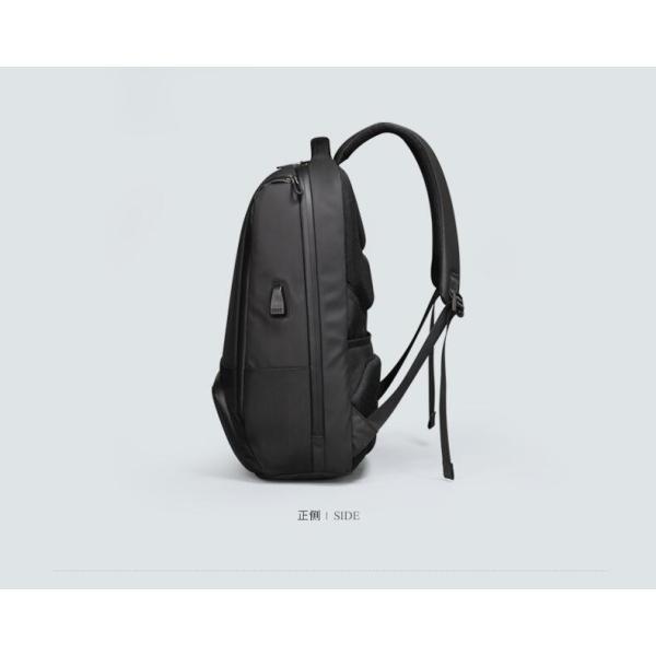 ビジネスリュック メンズ リュックサック ビジネスバッグ 撥水 バックパック 通学 通勤 出張 旅行 デイパック キャリーサポーター USB充電 AOKING SN77880|sancai|05