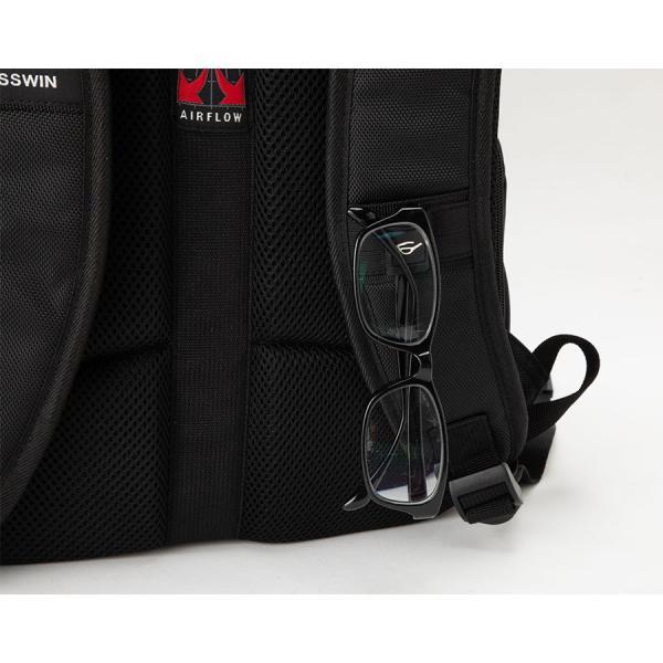 swisswin リュック メンズ リュックサック 防災 大容量 撥水 登山 通学 ノート PC収納 ビジネス 旅行バッグ 通勤用 出張  大きめ SW9275I|sancai|05