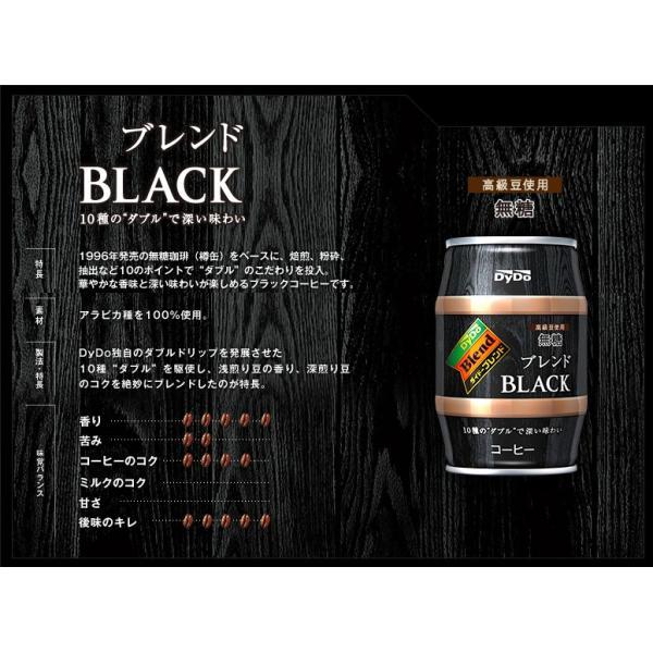 ダイドー ブレンド ブレンドブラック 樽 185g缶×24本入 DyDo Blend BLACK|sanchoku-support|03