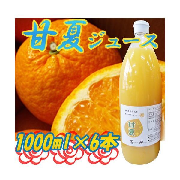 国産 愛媛県西宇和産 甘夏ジュース1000ml×6本入