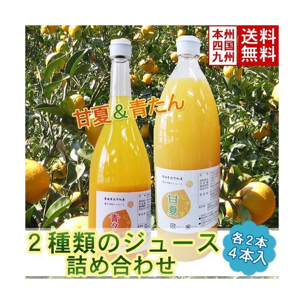愛媛県西宇和産 2種類のジュース詰合せ(甘夏×青たん)4本入