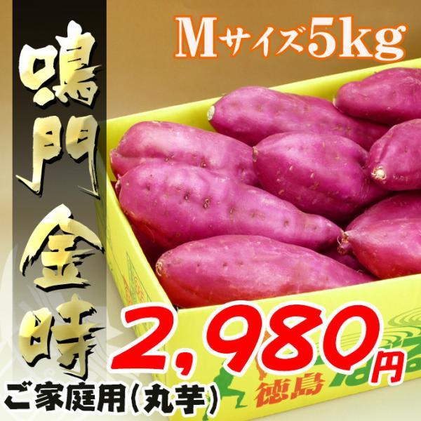 秋の味覚 徳島産の鳴門金時芋Mサイズ5kg
