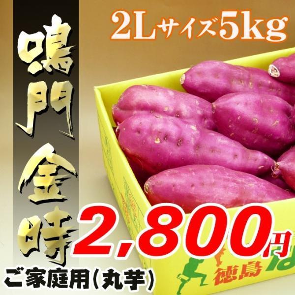 秋の味覚 徳島産の鳴門金時芋2Lサイズ5kg