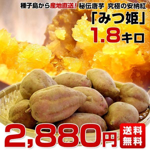 鹿児島県より産地直送 種子島安納紅「みつ姫」 約1.8キロ 送料無料 さつまいも 唐芋 からいも カライモ|sanchokudayori|02