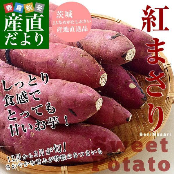 茨城県より産地直送 JAなめがた さつまいも「紅まさり(べにまさり)」 Sサイズ 約5キロ(25本から30本前後) 送料無料 さつま芋 サツマイモ 薩摩芋 sanchokudayori