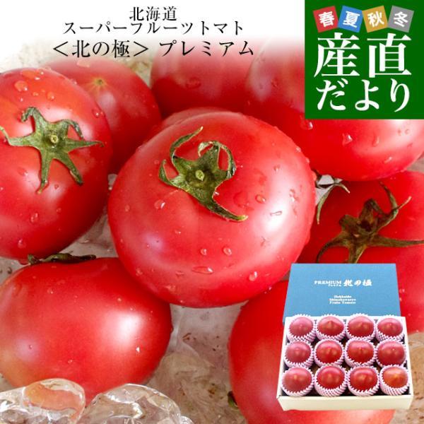北海道より産地直送 下川町のスーパーフルーツトマト <北の極> プレミアム 約800g化粧箱 LからSサイズ(8玉から15玉)送料無料 とまと|sanchokudayori