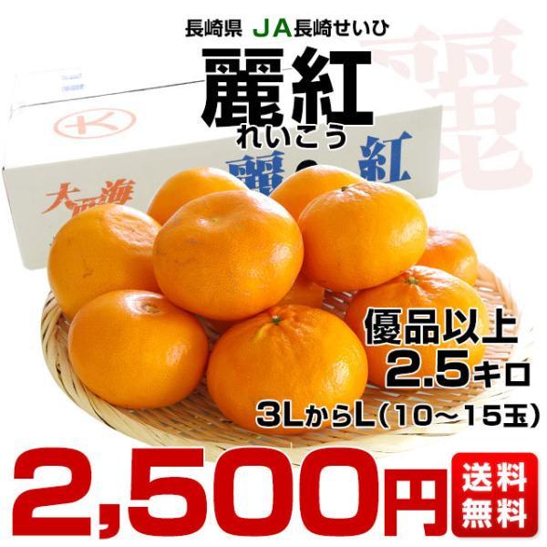 長崎県より産地直送 JA長崎せいひ 麗紅 (れいこう) 3LからLサイズ 優品以上 2.5キロ (10玉から15玉) 送料無料 柑橘 オレンジ れいこうかん sanchokudayori 02