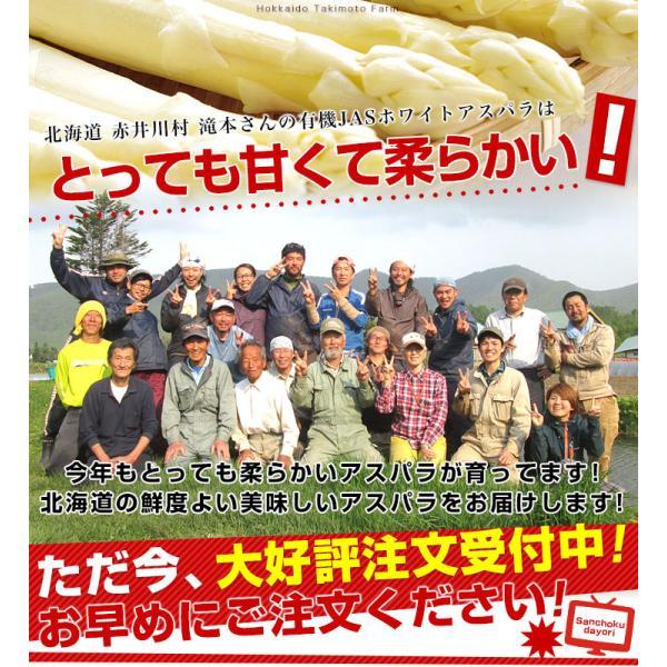 北海道より産地直送 赤井川村滝本農場のJAS有機ホワイトアスパラ「カルデラの貴婦人」 超極太3L以上 500g|sanchokudayori|04