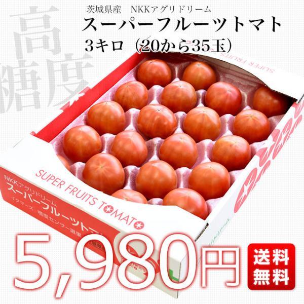 茨城県より産地直送 NKKアグリドリーム スーパーフルーツトマト 9度+ A品 約3キロ(20玉から35玉)  送料無料 高糖度トマト NKKトマト|sanchokudayori|02