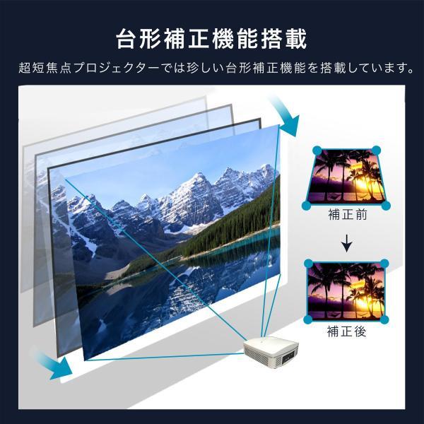 プロジェクター 超短焦点 短焦点 ワイヤレス 家庭用 本体 300 インチ 超短焦点プロジェクター ビジネス 4000ルーメン Bluetooth スマホ iphone HDMI FUNTASTIC|sandlot-books|13