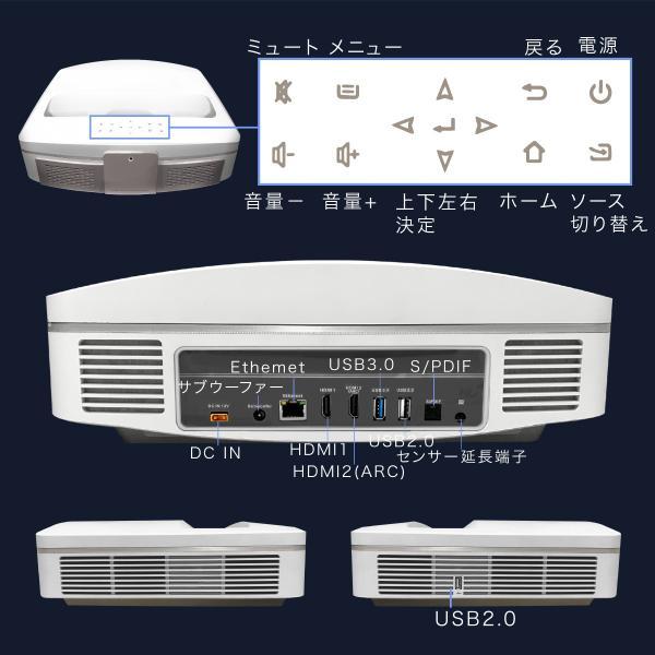 プロジェクター 超短焦点 短焦点 ワイヤレス 家庭用 本体 300 インチ 超短焦点プロジェクター ビジネス 4000ルーメン Bluetooth スマホ iphone HDMI FUNTASTIC|sandlot-books|16