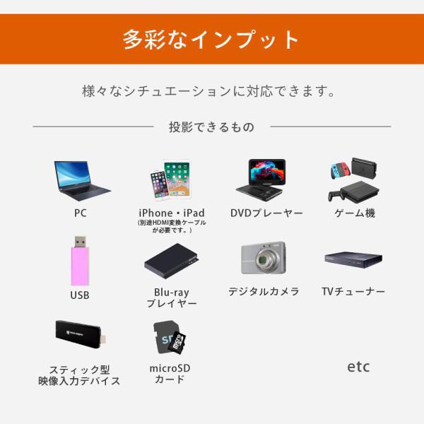 プロジェクター  高画質 3500ルーメン 高解像度 プロジェクタ 家庭用 モバイル スマホ iphone ビジネス 安い HDMI ケーブル付 本体 映画 FUNPLAY Plus FunLogy|sandlot-books|15