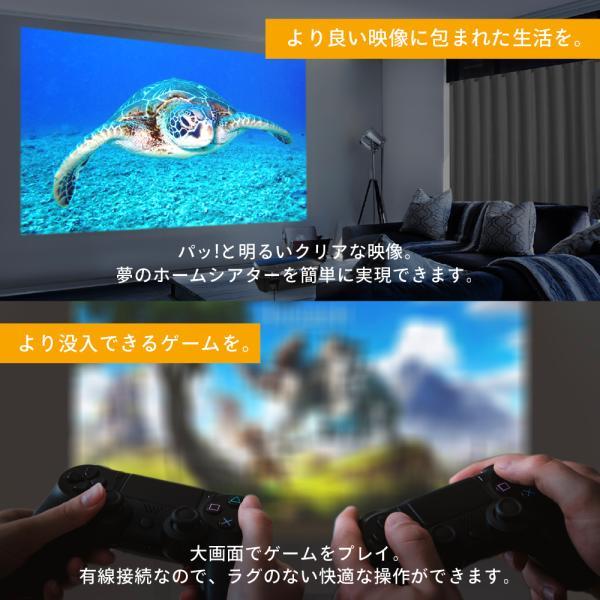 プロジェクター  高画質 3500ルーメン 高解像度 プロジェクタ 家庭用 モバイル スマホ iphone ビジネス 安い HDMI ケーブル付 本体 映画 FUNPLAY Plus FunLogy|sandlot-books|19