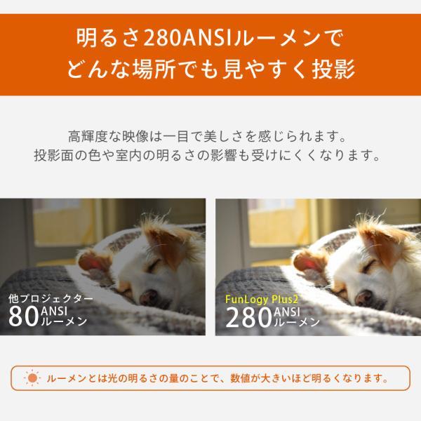 プロジェクター  高画質 3500ルーメン 高解像度 プロジェクタ 家庭用 モバイル スマホ iphone ビジネス 安い HDMI ケーブル付 本体 映画 FUNPLAY Plus FunLogy|sandlot-books|07