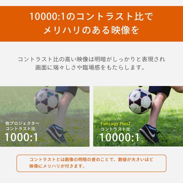 プロジェクター  高画質 3500ルーメン 高解像度 プロジェクタ 家庭用 モバイル スマホ iphone ビジネス 安い HDMI ケーブル付 本体 映画 FUNPLAY Plus FunLogy|sandlot-books|09