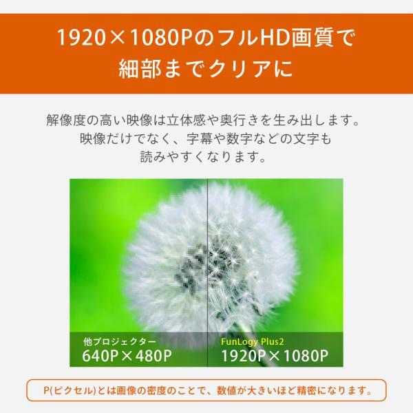プロジェクター  高画質 3500ルーメン 高解像度 プロジェクタ 家庭用 モバイル スマホ iphone ビジネス 安い HDMI ケーブル付 本体 映画 FUNPLAY Plus FunLogy|sandlot-books|10