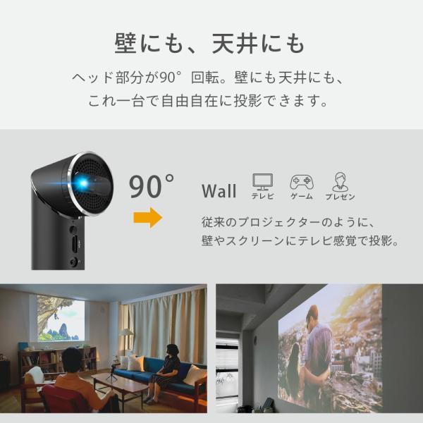 プロジェクター 小型 モバイルプロジェクター 本体 家庭用 ビジネス モバイル 天井 モバイル 安い iPhone スマホ Bluetooth Wi-Fi 高画質 DLP HDMI X-03 FunLogy sandlot-books 02