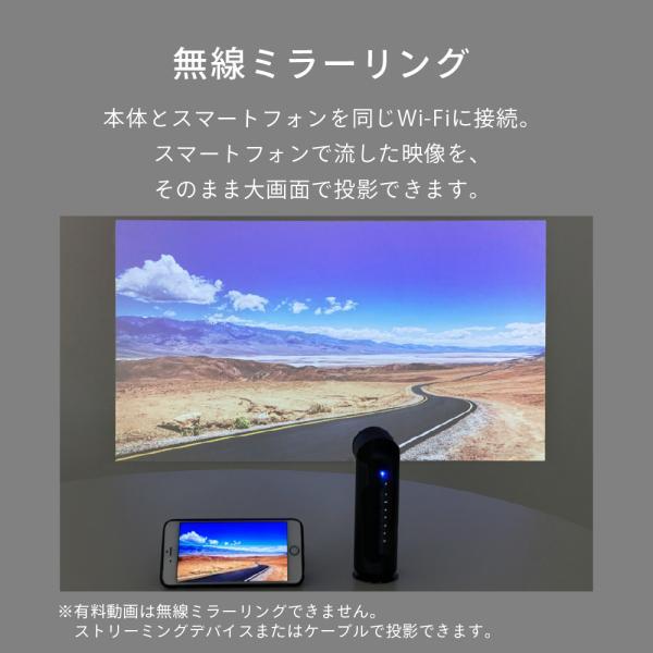 プロジェクター 小型 モバイルプロジェクター 本体 家庭用 ビジネス モバイル 天井 モバイル 安い iPhone スマホ Bluetooth Wi-Fi 高画質 DLP HDMI X-03 FunLogy sandlot-books 09