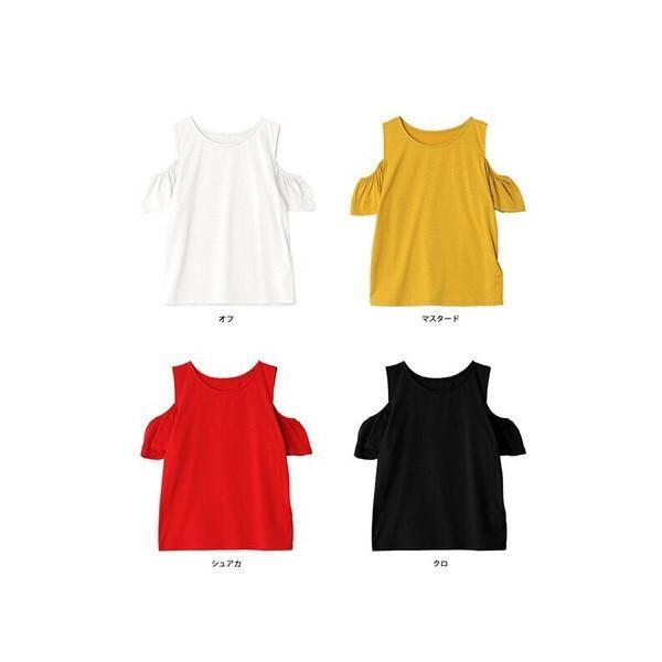 肩開きフリルTシャツ/トップス|sandr0817|03