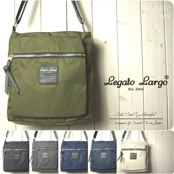 Legato Largo レガートラルゴ ショルダーバッグ レディース 撥水 高密度ナイロン 縦型ショルダーバッグ|sandybrown