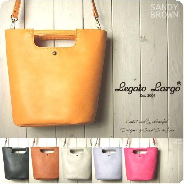Legato Largo レガートラルゴ ショルダーバッグ レディース リッチツートン くり手ショルダーバッグ|sandybrown