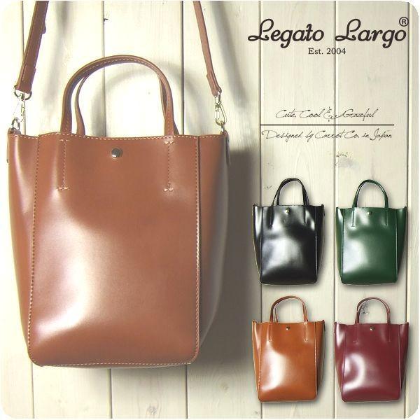 Legato Largo レガートラルゴ ショルダーバッグ レディース シャイニーフェイクレザー 2WAY トートバッグ|sandybrown