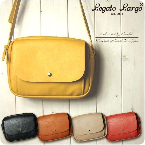 Legato Largo レガートラルゴ ショルダーバッグ レディース クラフトフェイクレザー 10ポケット お財布ショルダー|sandybrown
